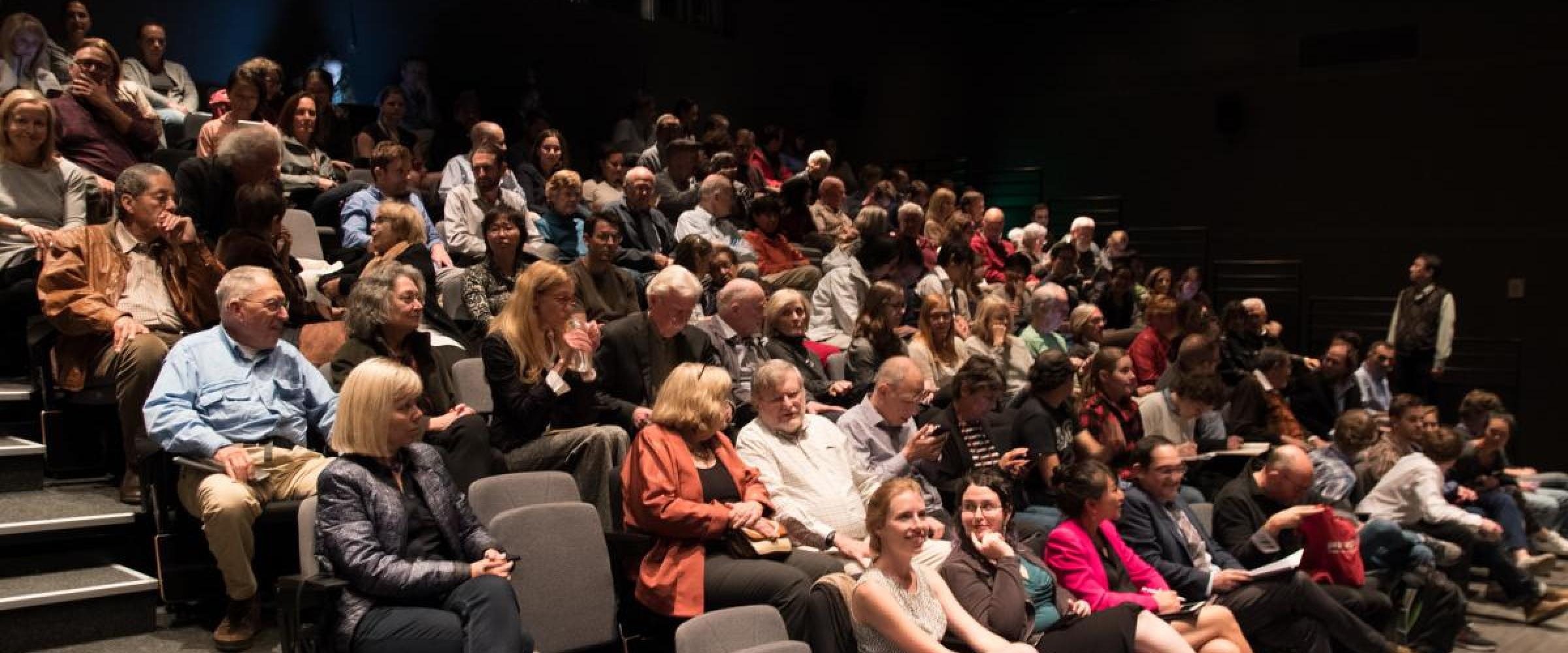 Audience in McMurtry Auditorium