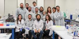 Hasan DeMirci and his group at Koç University (photo taken in 2019) kicked off the first remote experimental run of SLAC's upgraded X-ray laser, investigating if existing drugs can be used in the fight against COVID-19. (Courtesy Hasan DeMirci/Koç University)