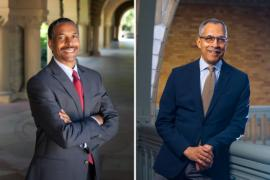 Patrick Dunkley, left, and Claude Steele. (Image credit: Courtesy Patrick Dunkley and Claude Steele)