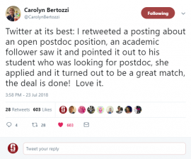 Carolyn Bertozzi Tweet
