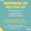 Mentoring Up with Steve Lee